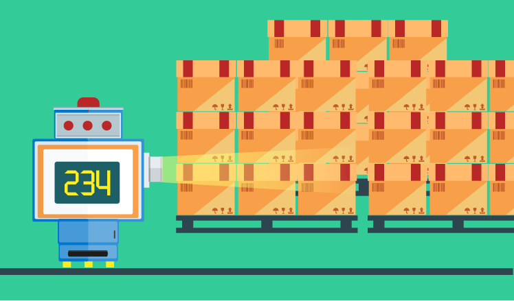 How to use machine vision to calculate palletized boxes in a warehouse