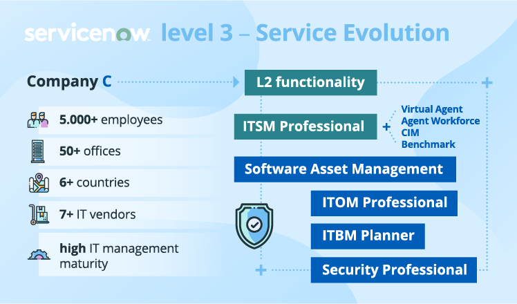 ServiceNow implementation: level 3