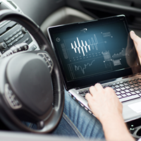 Development of Connected Car Application for On-board Diagnostics