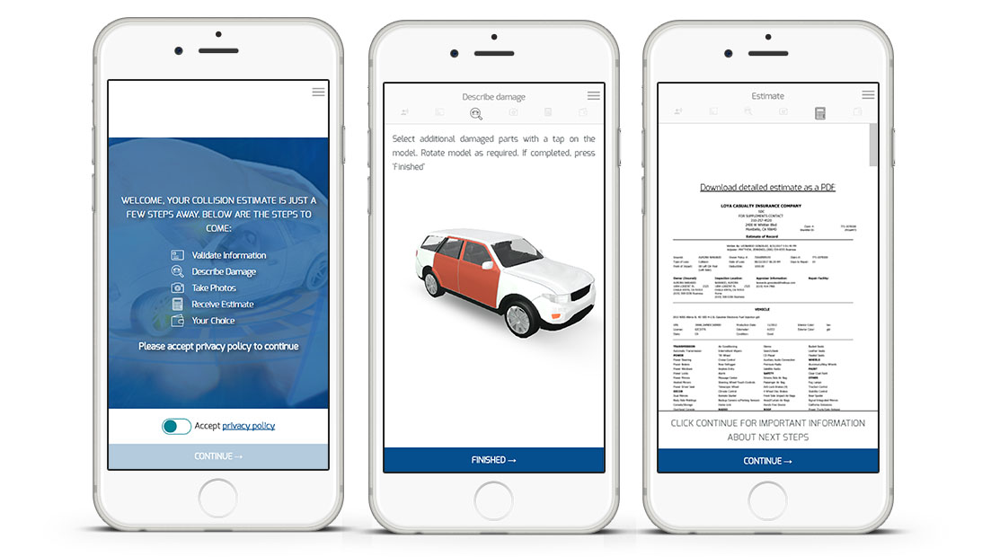 Full-cycle Testing of a Web App System for Car Insurance Claim Estimation
