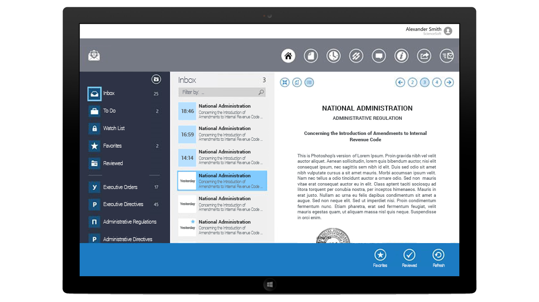 Document Management App for Parliament
