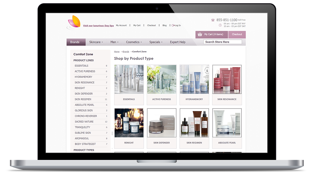 Magento E-Shop for a Beauty Store with Expert Skincare Consulting