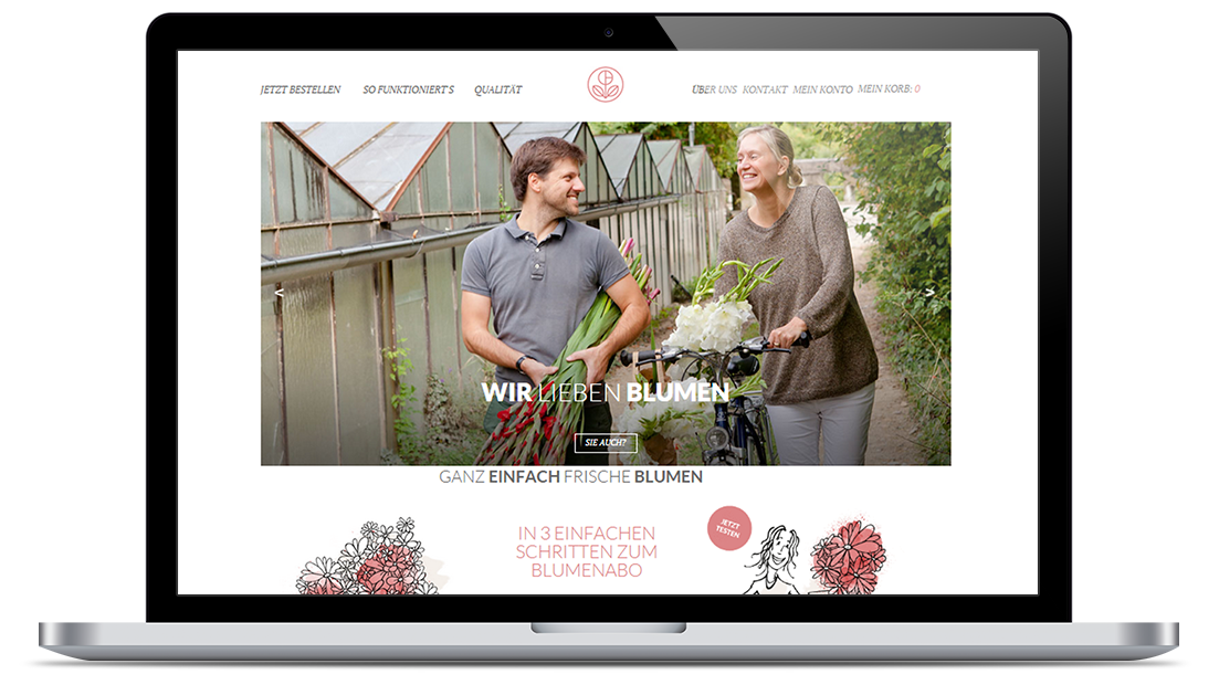 E-Shop for a Family Floral Business in Europe