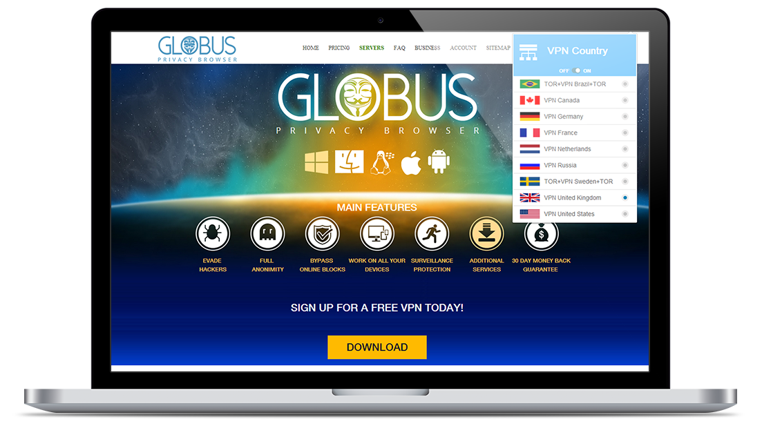 Customer Portal for Globus Secure Privacy Browser