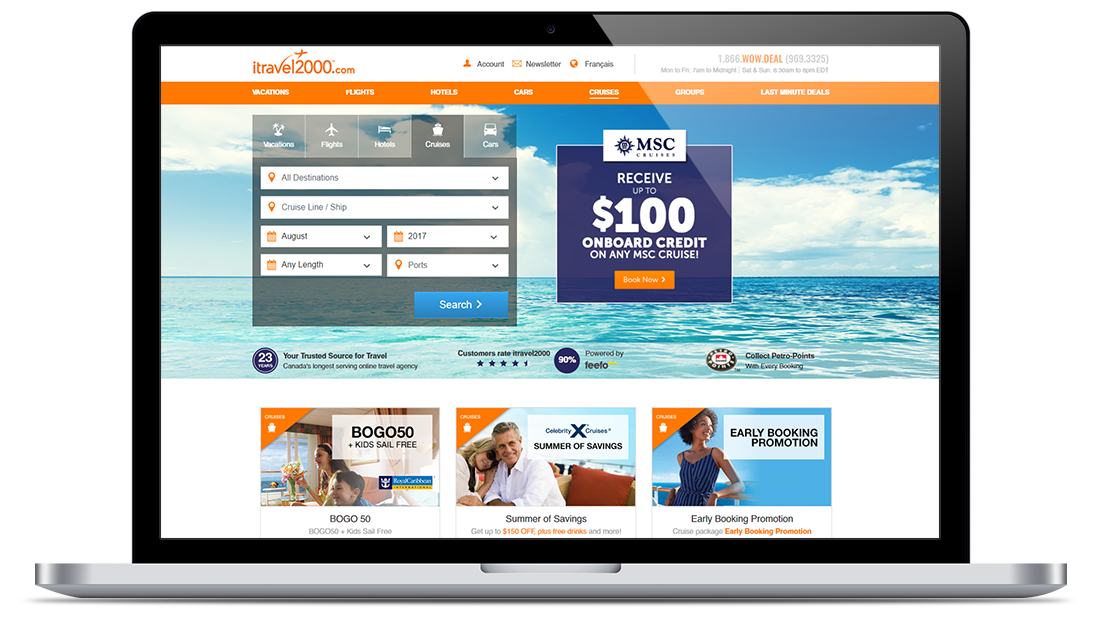 400M Subscriptions Web Portal Upgrade for Canada's Top Travel Agency