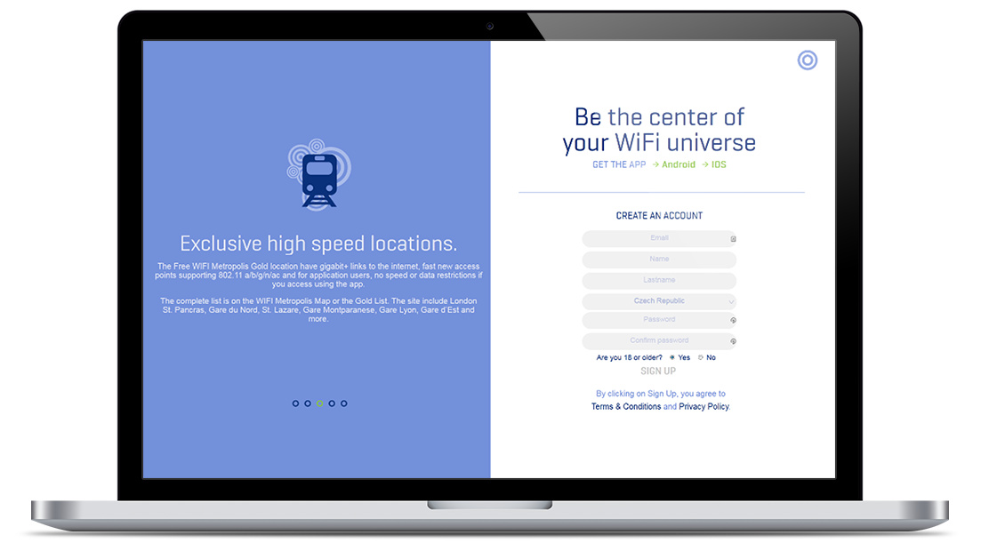 Website for a Million+ WiFi Locations Worldwide