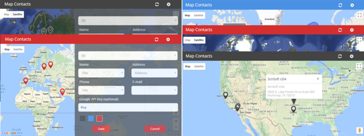 Map Conracts SharePoint Add-in - ScienceSoft