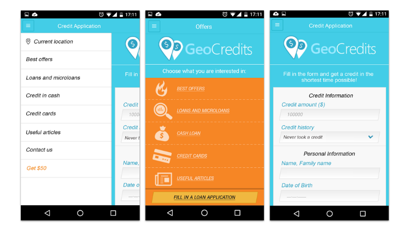 cross platform mobile app for online credit assistant case study